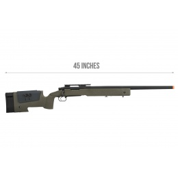 ASG USMC M40A3 Bolt Action Airsoft Sniper Rifle - OLIVE DRAB GREEN