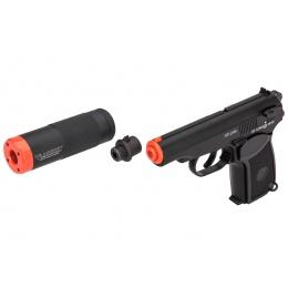 ICS BLE PM2 Makarov Airsoft Pistol w/ Suppressor (Black)