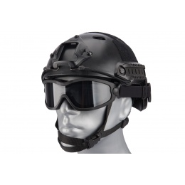 Lancer Tactical Double Layer Airsoft Goggles [Smoke Lens] - BLACK