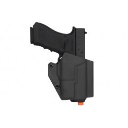 Lancer Tactical Light Bearing Hard Shell Holster for Glock 17 - BLACK