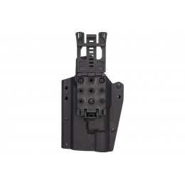 Lancer Tactical Light Bearing Hard Shell Holster for Glock 17 [Large] - BLACK