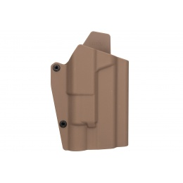 Lancer Tactical Light Bearing Hard Shell Holster for Glock 17 [Large] - TAN
