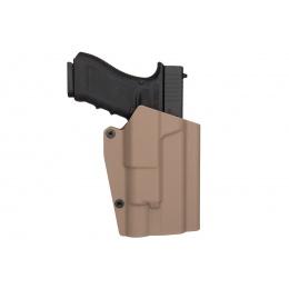 Lancer Tactical Light Bearing Hard Shell Holster for Glock 17 [Large] - TAN