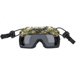 Lancer Tactical Helmet Safety Goggles [Smoke Lens] (Color: ACU)