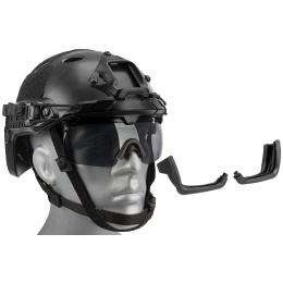 Lancer Tactical Helmet Safety Goggles - BLACK