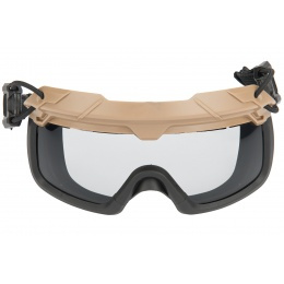 Lancer Tactical Helmet Safety Goggles - TAN
