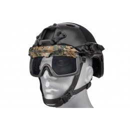Lancer Tactical Helmet Safety Goggles [Smoke Lens] - DIGITAL WOODLAND