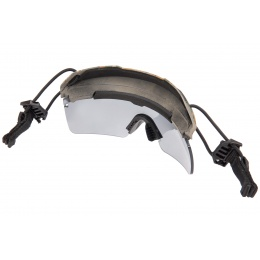 Lancer Tactical Helmet Safety Goggles [Smoke Lens] - DIGITAL WOODLAND