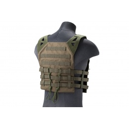 Lancer Tactical Lightweight Molle Tactical Vest with Retention Cords (Color: OD Green)
