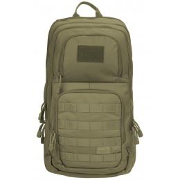 Lancer Tactical 1000D EDC Commuter MOLLE Backpack w/ Concealed Holder - OD GREEN