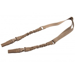 Lancer Tactical 2-Point Bungee Sling with Dual Buckles (Tan)