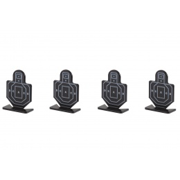 WoSport Steel Soldier Training Targets Pack of 4 (Color: Black)