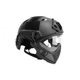 G-Force Pilot Full Face Helmet w/ Plastic Mesh Face Guard (Color: OD Green)