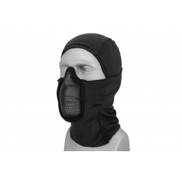 Lancer Tactical Shadow Warrior Hood Mesh Balaclava Face Mask (Color: Black)