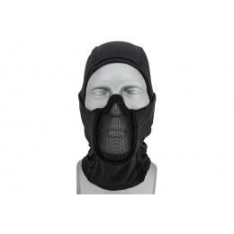 Lancer Tactical Shadow Warrior Hood Mesh Balaclava Face Mask (Color: Black)