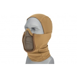 Lancer Tactical Shadow Warrior Hood Mesh Balaclava Face Mask (Color: Tan)