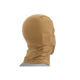Lancer Tactical Shadow Warrior Hood Mesh Balaclava Face Mask (Color: Tan)