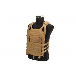 Lancer Tactical Lightweight Plate Carrier w/ Foam Dummy Plates (Khaki)