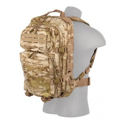 Lancer Tactical Laser Cut Webbing Multi-Purpose Backpack - CAMO DESERT