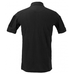 Lancer Tactical Polyester Fabric Polo Shirt - BLACK