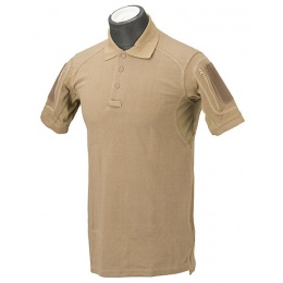 Lancer Tactical Polyester Fabric Polo Shirt - TAN