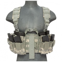 Lancer Tactical Airsoft M4 Chest Harness MOLLE Rig [Nylon] - ACU