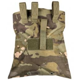 Lancer Tactical Nylon Foldable Dump Pouch - CAMO TROPIC