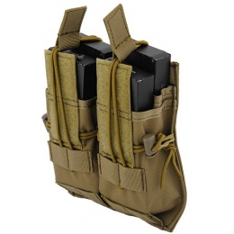 Lancer Tactical Airsoft Dual Magazine Pouch for M4/M16/AK Series AEGs - TAN