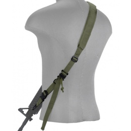 Lancer Tactical Airsoft Quick Detach 2-Point Padded Weapon Sling [Nylon] - OD GREEN