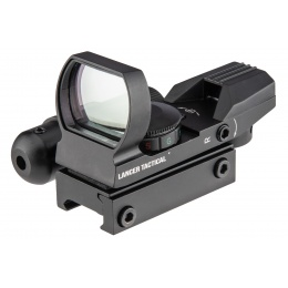 Lancer Tactical 4-Reticle Red/Green Dot Reflect Sight w/ Laser - BLACK