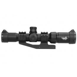 Lancer Tactical Airsoft 1.5-4x30 Illuminated MIL Dot Rifle Scope