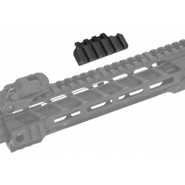 Lancer Tactical Airsoft One O' Clock 5 Slot Rail Panel - BLACK