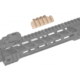 Lancer Tactical Airsoft One O' Clock 5 Slot Rail Panel - DARK EARTH