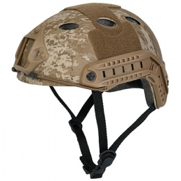 Lancer Tactical Bump Type Tactical Airsoft Helmet - DESERT DIGITAL