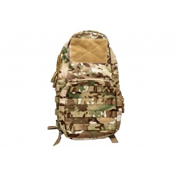 Lancer Tactical 1000D Nylon Airsoft Molle Hydration Backpack (Color: Multi-Camo)