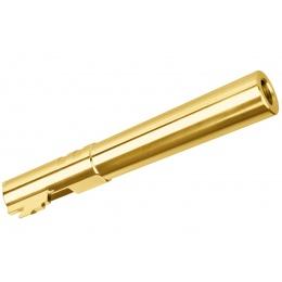 Stainless Steel Threaded Outer Barrel for 5.1 Hi-Capa Pistols (Gold)