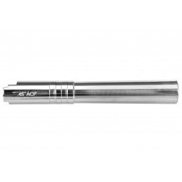 Stainless Steel Threaded Outer Barrel for 5.1 Hi-Capa Pistols (Silver)