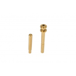 COWCOW CNC Stainless Steel Adjustable Spring Guide Rod for TM Hi-Capa Pistols (Gold)