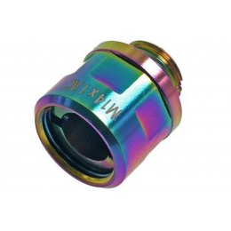 CowCow A01 Silencer Adapter for Tokyo Marui Hi-Capa/1911 (11mm CW to 14mm CCW) (Color: Rainbow)
