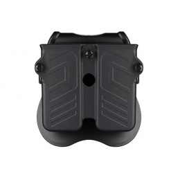Cytac Hard Shell Universal Double Magazine Pouch (Color: Black)