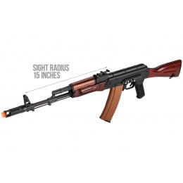 Double Bell AK74N AEG Airsoft Rifle - BLACK / WOOD
