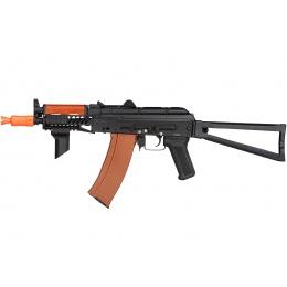 Double Bell AK74U Tactical AEG Airsoft Rifle - BLACK / WOOD