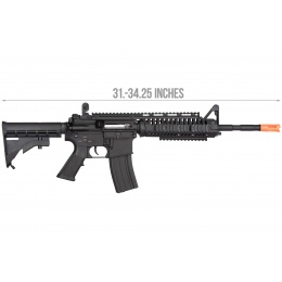 Double Bell M4 Tactical-System AEG Full Metal Airsoft Rifle - BLACK
