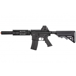 Double Bell M4 RIS AEG Full Metal Airsoft Rifle w/ Mock Suppressor - BLACK