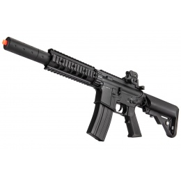 Double Bell M4 RIS AEG Full Metal Airsoft Rifle w/ Mock Suppressor - BLACK (Gun Only)