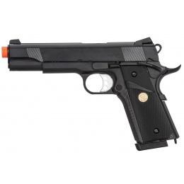 Double Bell M1911 Gas Blowback MEU Airsoft Pistol [Polymer] - BLACK