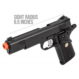 Double Bell M1911 Gas Blowback MEU Airsoft Pistol [Polymer] - BLACK