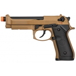 Double Bell M92 Gas Blowback Airsoft Pistol - TAN
