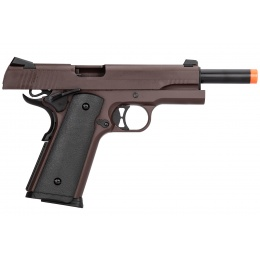 Double Bell M1911 Gas Blowback Airsoft Pistol - CRIMSON BROWN