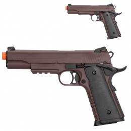 Double Bell M1911 Gas Blowback Airsoft Pistol - CRIMSON BROWN